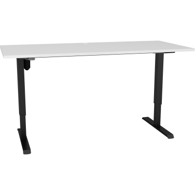 501-33 Elec H/Adj Desk 1500×750 Bech/Blk